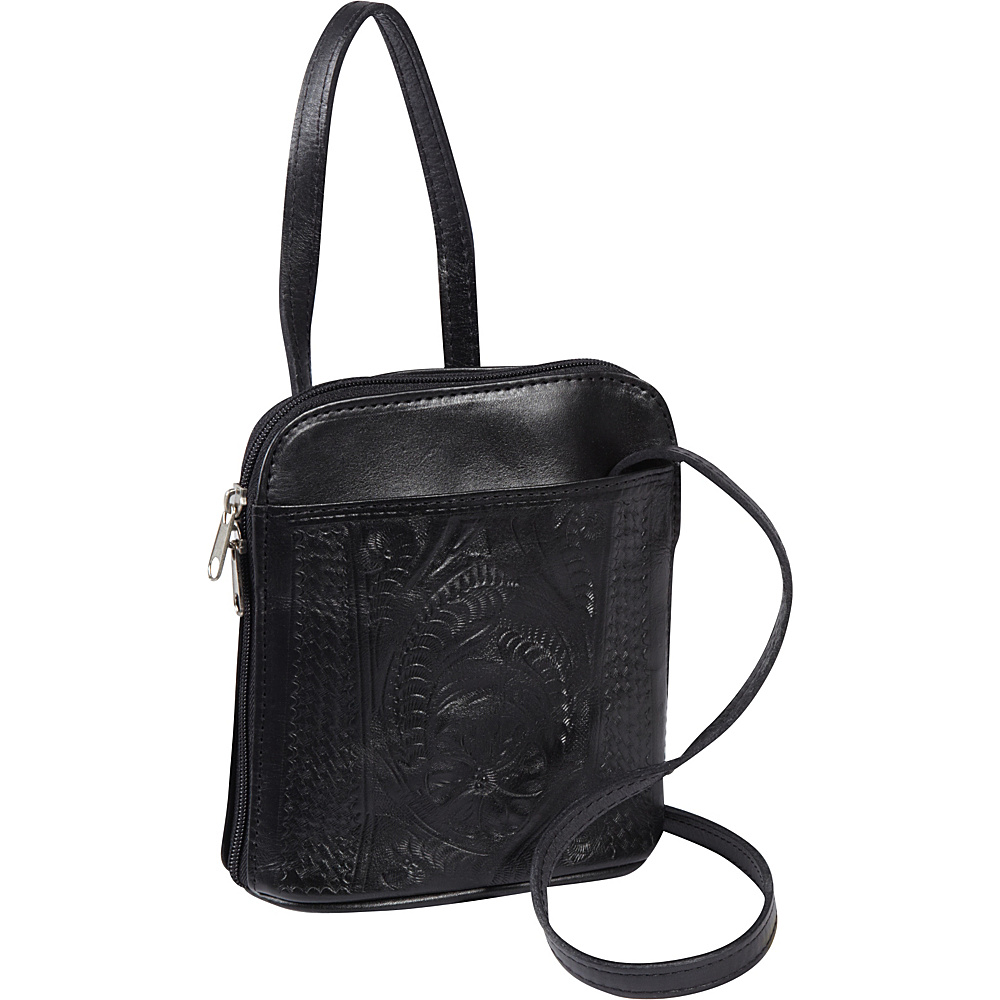 Ropin West Cross body bag Black Ropin West Leather Handbags