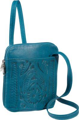 Ropin West Cross-body bag Turquoise - Ropin West Leather Handbags
