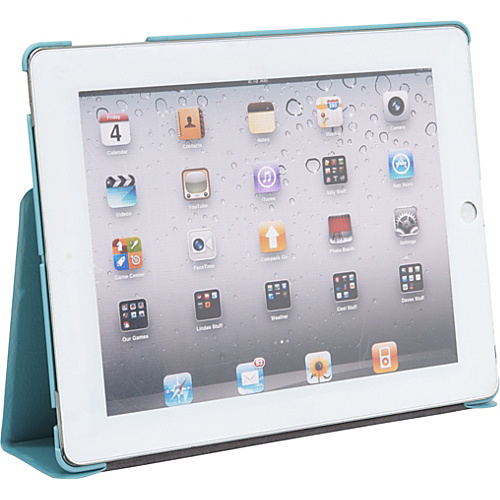 Wireless Accessories Unlimited Folio with Stand for iPad 2 & New iPad - Smiley Face SKY - Wireless Accessories Unlimited Laptop Sleeves