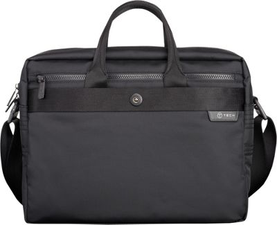 Tumi T-Tech Gateway Ulsan Top Handle Portfolio Black - Tumi Non-Wheeled Computer Cases