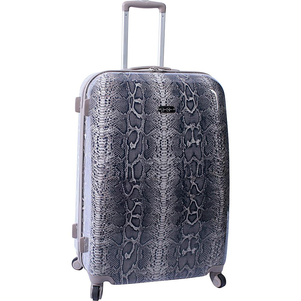 "Jessica Simpson Luggage Snake 28"" Twister Hardside Brown - Jessica Simpson Luggage Large Rolling Luggage"