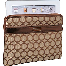 Insta-Glam iPad Sleeve Brown Khaki Metallic/Bronze