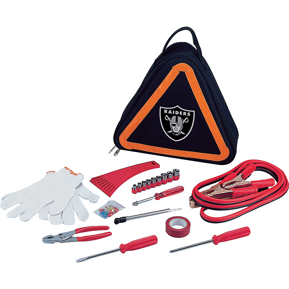 Picnic Time Oakland Raiders Roadside Emergency Kit Oakland Raiders - Picnic Time Trunk and Transport Organization - Travel Accessories, Trunk and Transport Organization