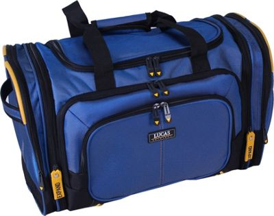 LUCAS Accelerator 20 inch Exp. Club Duffel Blue/ Yellow - LUCAS Rolling Duffels