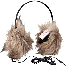 Faux Fur Earmuff Headphone Natural