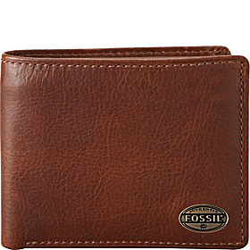 Estate Zip Passcase Wallet Cognac