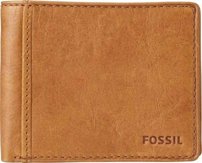 Fossil Ingram Traveler Wallet Cognac - Fossil Men's Wallets
