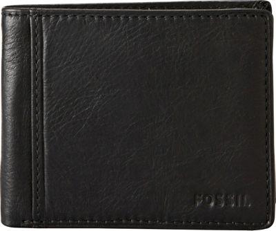 Fossil Ingram Traveler Wallet Black - Fossil Men's Wallets