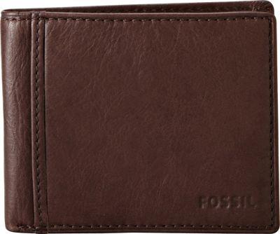 Fossil Ingram Traveler Wallet Brown - Fossil Men's Wallets