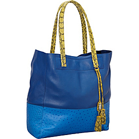 Suze Mixed Media Tall Tote Blue