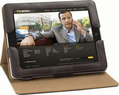 SOLO Premium Leather Ascent Case for iPad Espresso - SOLO Electronic Cases