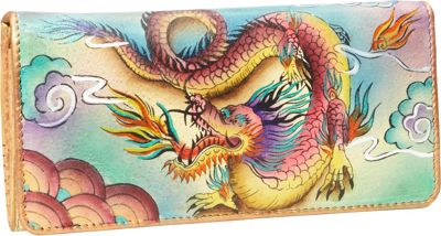 Image of Anuschka Accordion Flap Wallet Imperial Dragon - Anuschka Ladies Clutch Wallets
