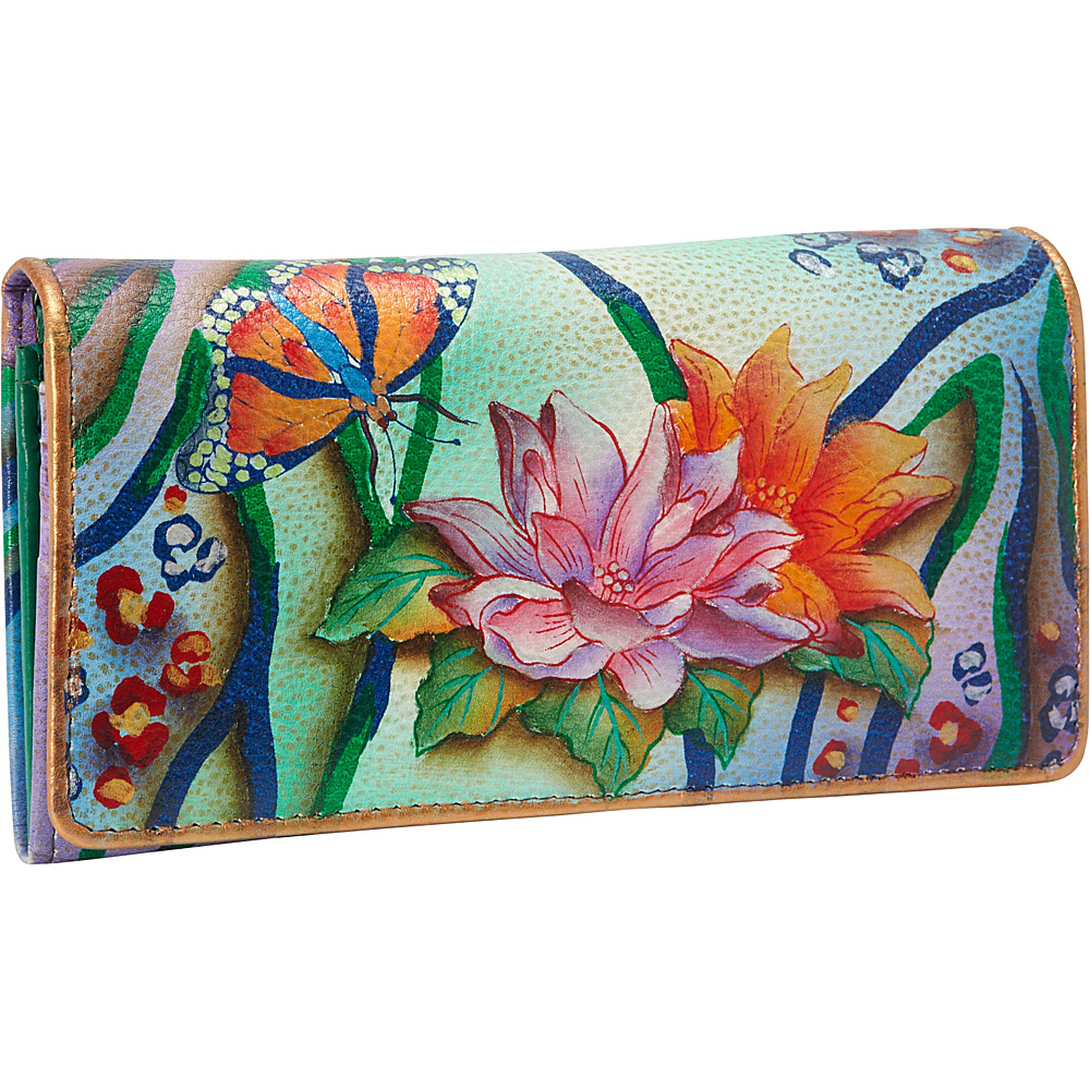 Anuschka Accordion Flap Wallet Zebra Garden - Anuschka Women's Wallets