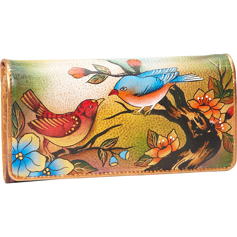 Anuschka Accordion Flap Wallet Two for Joy - Anuschka Ladies Clutch Wallets