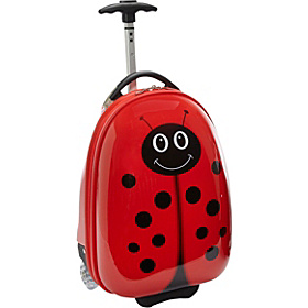 LadyBug Kids' Rolling Carry On Lady Bug