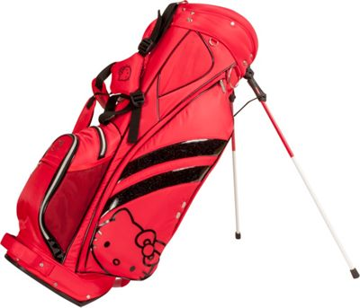 Hello Kitty Golf Hello Kitty Diva Stand Bag Red - Hello Kitty Golf Golf Bags