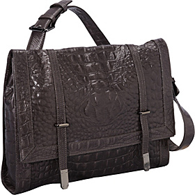 Strap Aside Croco Messenger Graphite