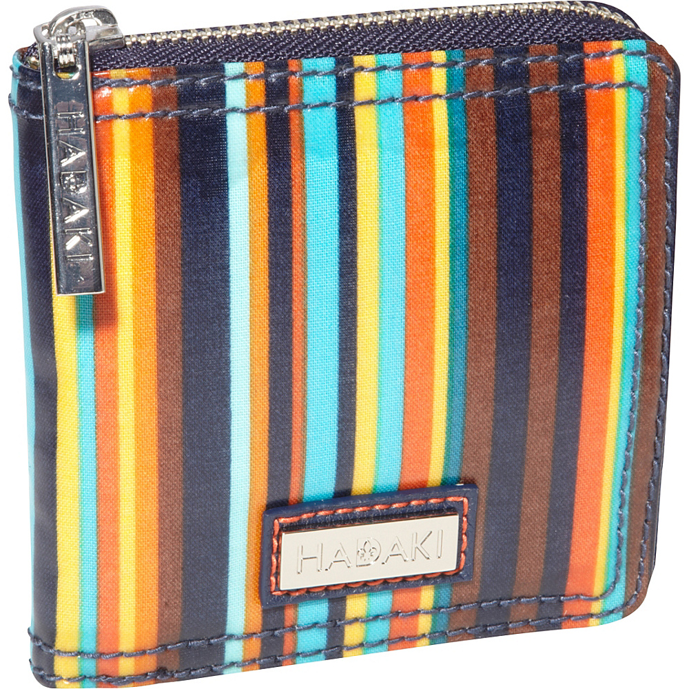Hadaki Coated Money Pod Small Arabesque Stripes - Hadaki Womens Wallets - Women's SLG, Women's Wallets
