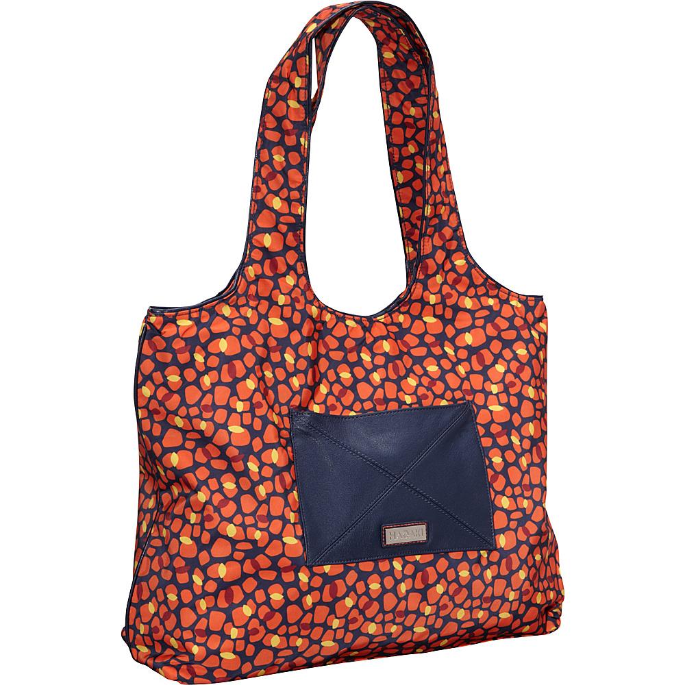 Hadaki Nylon Sayonara Tote Arabesque Pebbles - Hadaki Fabric Handbags - Handbags, Fabric Handbags