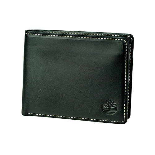 Timberland Wallets Hookset Leather Passcase Wallet Black - Timberland Wallets Mens Wallets