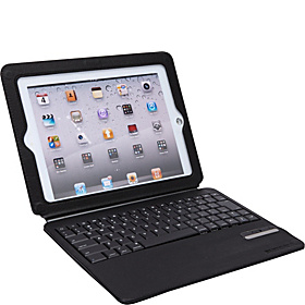 Ultra-Thin Folio: w/ Stand & Bluetooth Keyboard for iPad 2 & 3 Black