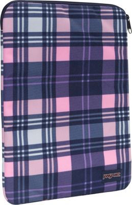 JanSport 15 1.0 Sleeve Pink Pansy Preston Plaid - JanSport Laptop Sleeves