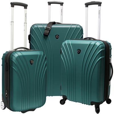 Traveler's Choice 3-Piece Hardside Ultra Lightweight Luggage Set Green - Traveler's Choice Luggage Sets
