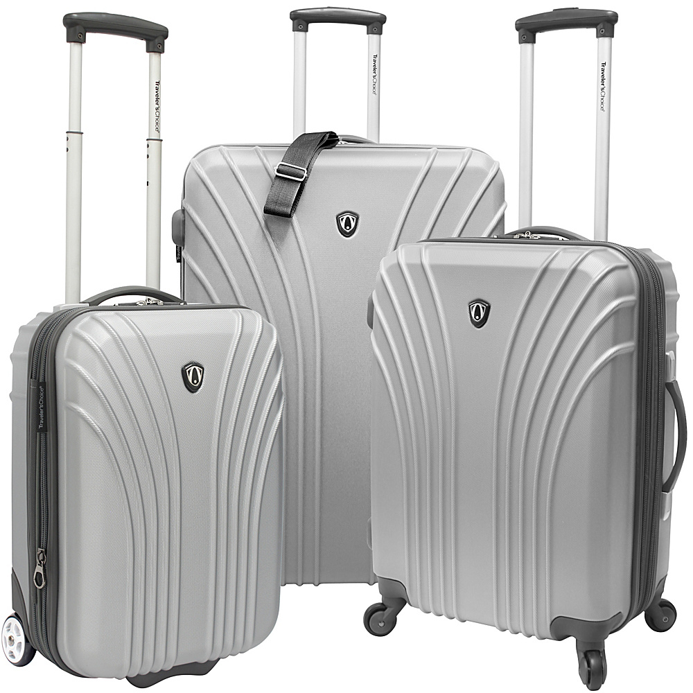 Traveler S Choice New Luxembourg  Piece Hardside Spinner Luggage Set