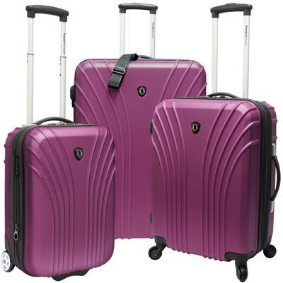 Traveler's Choice 3-Piece Hardside Ultra Lightweight Luggage Set Lavender - Traveler's Choice Luggage Sets