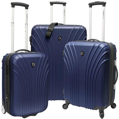 Traveler's Choice 3-Piece Hardside Ultra Lightweight Luggage Set Navy - Traveler's Choice Luggage Sets