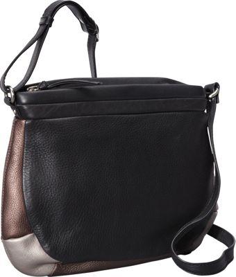 Derek Alexander Top Zip Shoulder Bag Metallic - Derek Alexander Leather Handbags