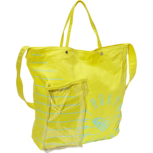 Roxy Getaway Tote Acid Yellow - Roxy Fabric Handbags