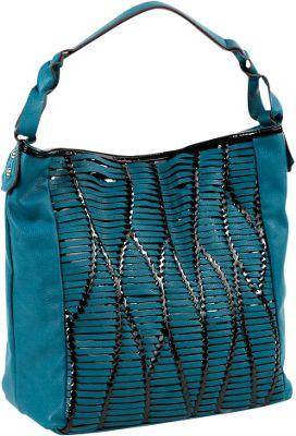 Nicole Lee Yanel Woven Streams Hobo Bag Blue - Nicole Lee Manmade Handbags