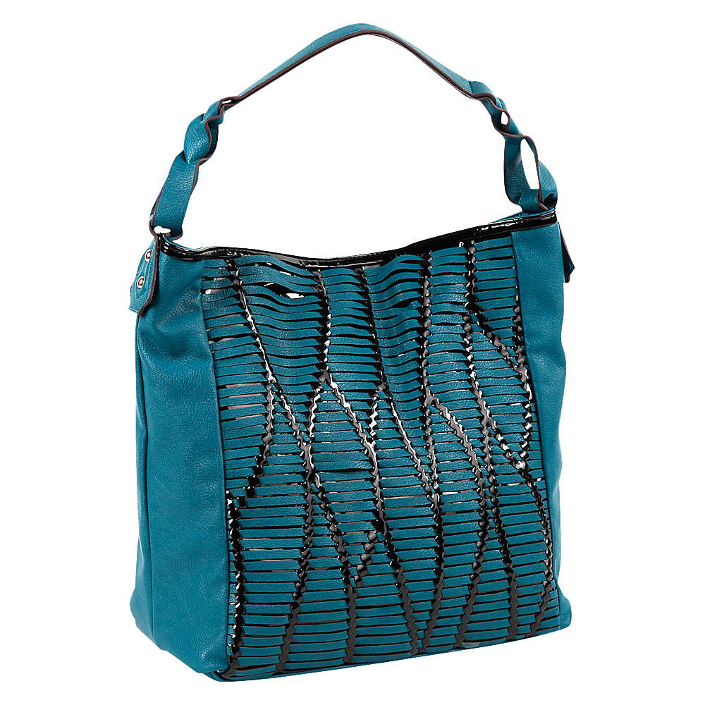 Nicole Lee Yanel Woven Streams Hobo Bag Blue Nicole Lee Manmade Handbags