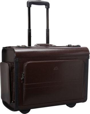 Mancini Leather Goods Wheeled Laptop Catalog Case Burgundy - Mancini Leather Goods Wheeled Business Cases