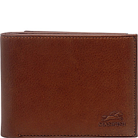 Men's Trifold Wing Wallet Cognac