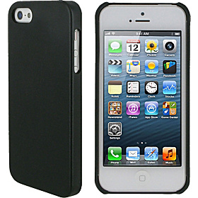 Ultra Slim Leather Shell Case for iPhone 5 Black