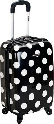 Rockland Luggage Dot Hardside Carry-On Luggage - 20 inch Black Dot - Rockland Luggage Hardside Carry-On