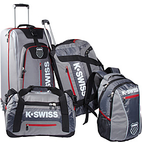 Tech Sport Luggage Set Grey and Black