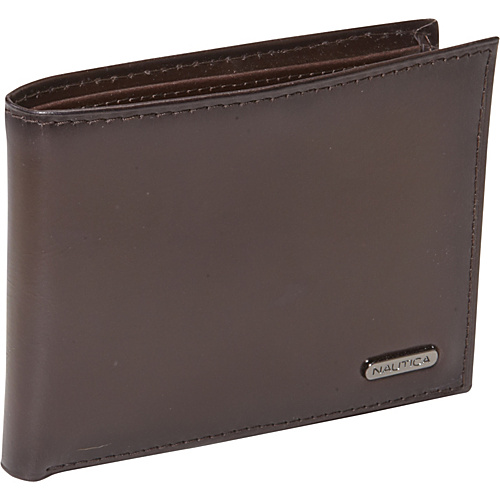 Nautica Mens Wallets Capella Passcase Wallet Brown - Nautica Mens Wallets Mens Wallets
