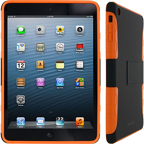 rooCASE Extreme Hybrid TPU Shell Case for iPad Mini Black/Orange - rooCASE Laptop Sleeves