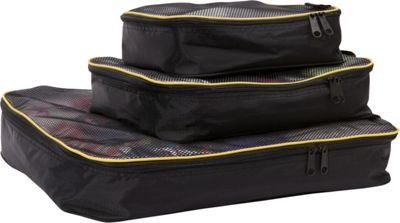 A. Saks A. Saks Packing Squares Set S/M/L Black - A. Saks Travel Organizers