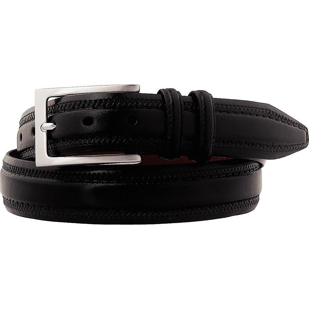 Johnston Murphy Double Pinked Belt Black Size 42 Johnston Murphy Other Fashion Accessories