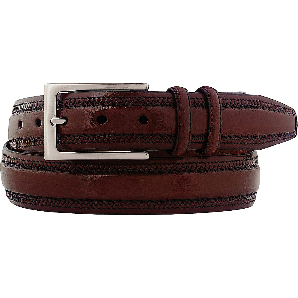 Johnston Murphy Double Pinked Belt Cognac 42 Johnston Murphy Other Fashion Accessories