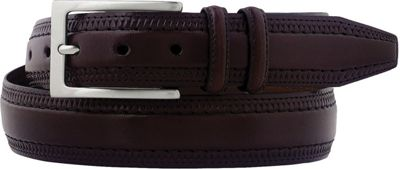 Johnston & Murphy Double Pinked Belt Burgundy - Size 34 - Johnston & Murphy Other Fashion Accessories