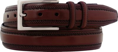 Johnston & Murphy Double Pinked Belt Cognac - Size 34 - Johnston & Murphy Other Fashion Accessories