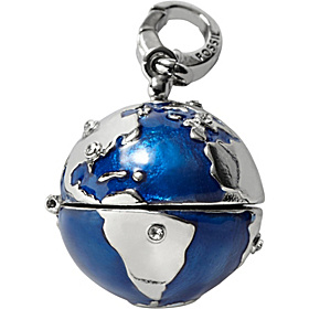 World Peace Charm Silver and Blue