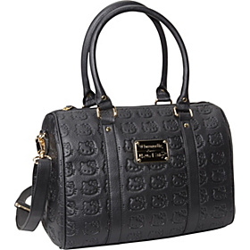 Hello Kitty Embossed Bowler Satchel Black
