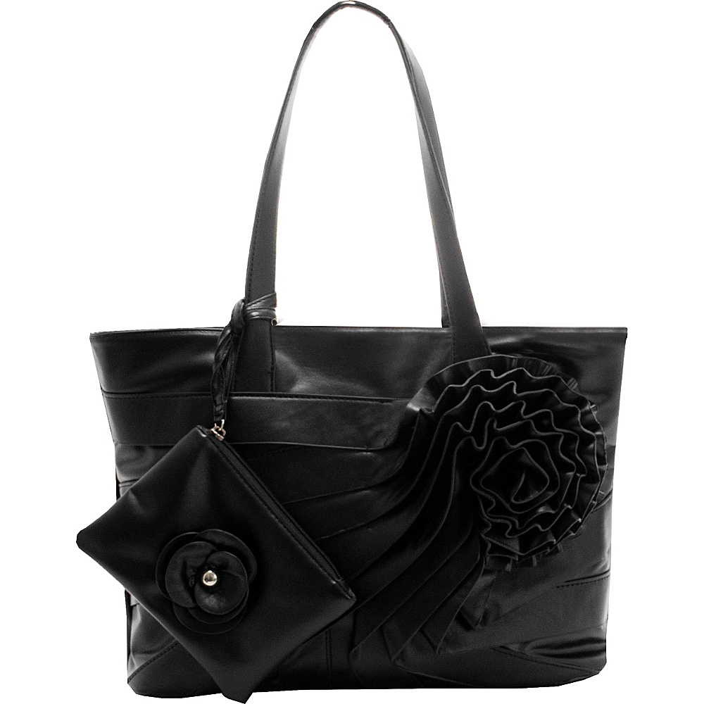 Parinda June Shoulder Bag Black - Parinda Manmade Handbags