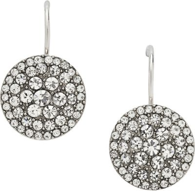 Fossil Glitz Disc Earring Silver - Fossil Other Fashion Accessories
